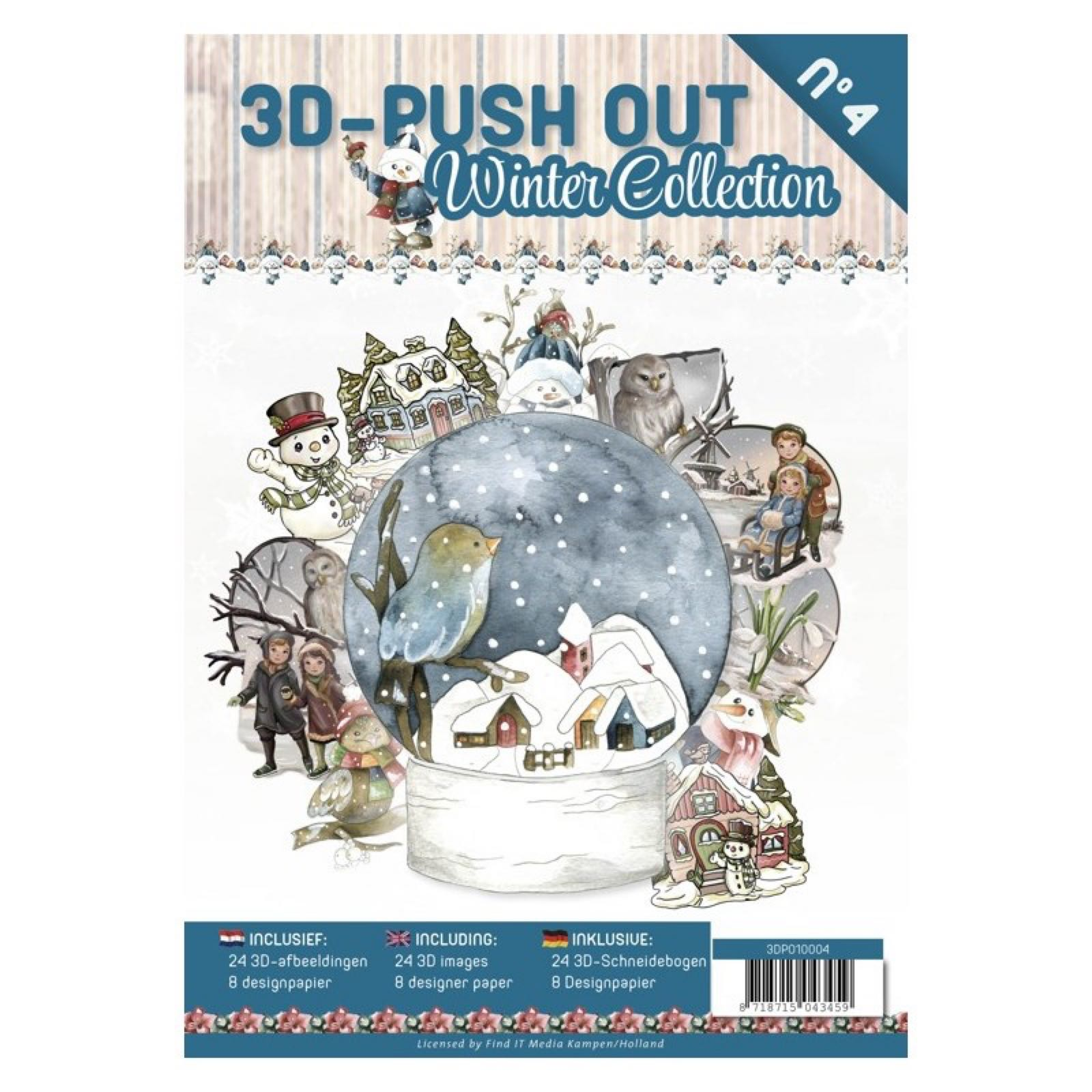 3D-push out bok Winter collection  24 3D motiver
