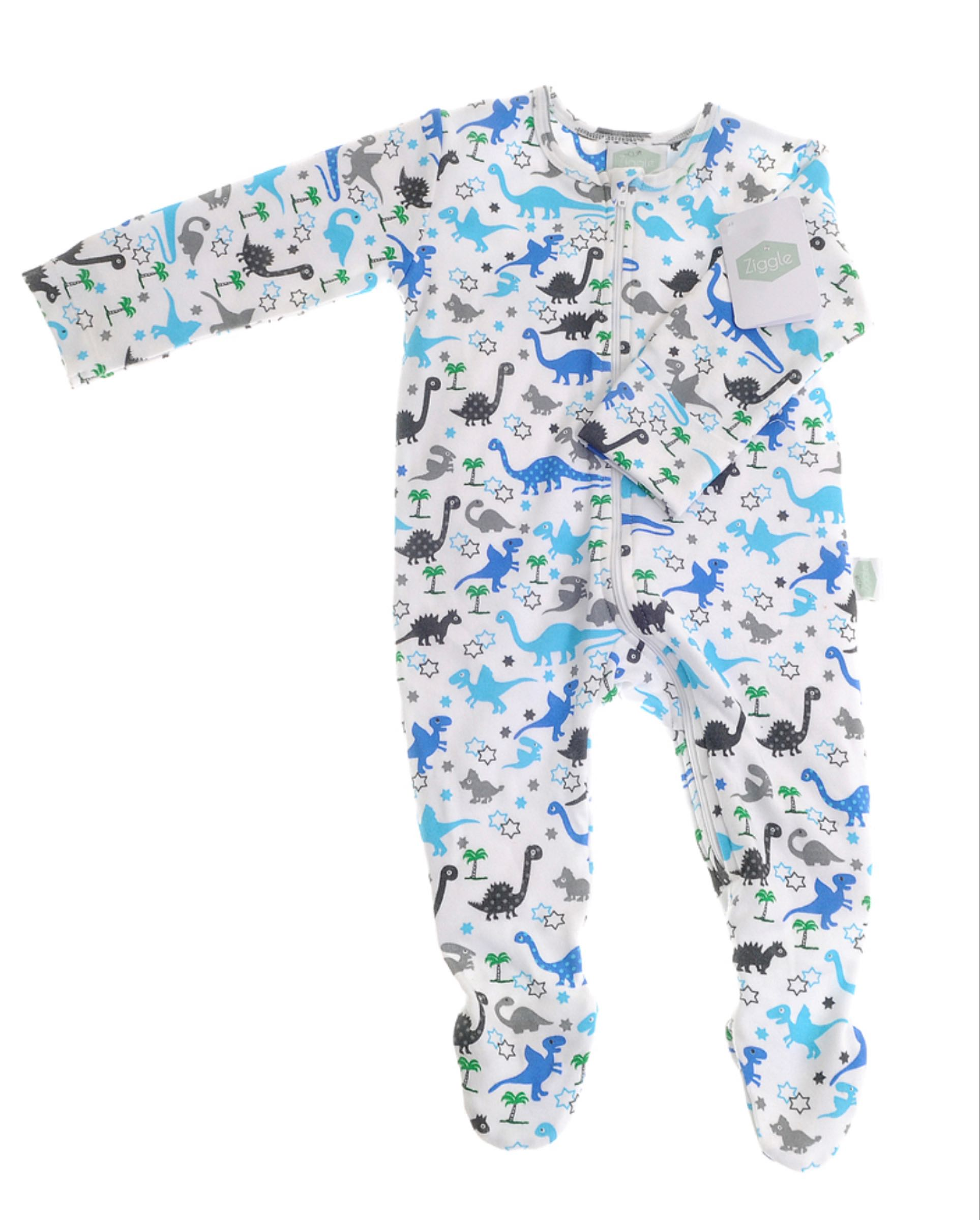 Ziggle  Uptown Dinosaur Zipped All-in-one 6-12 months