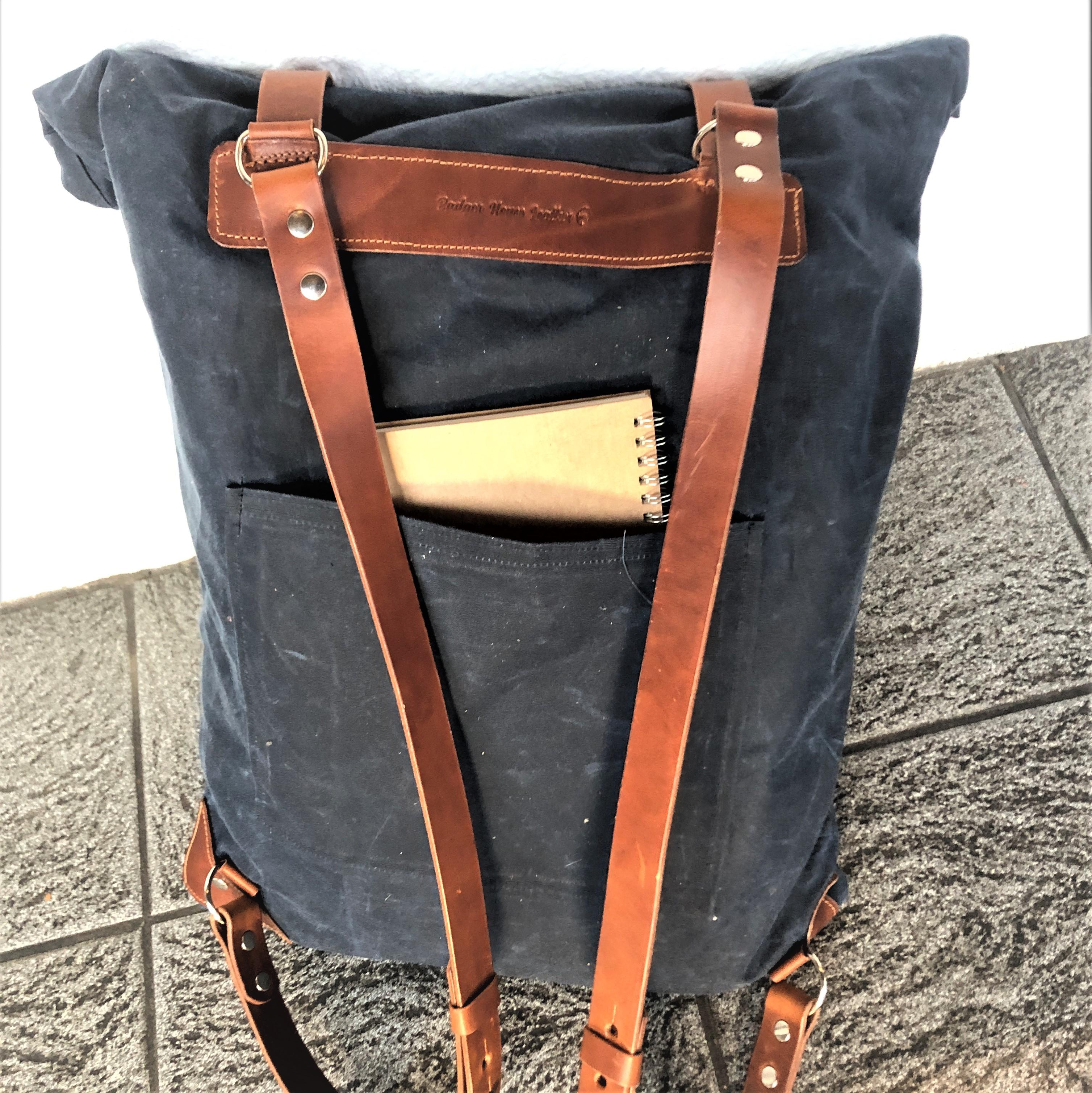 Roll top rucksack