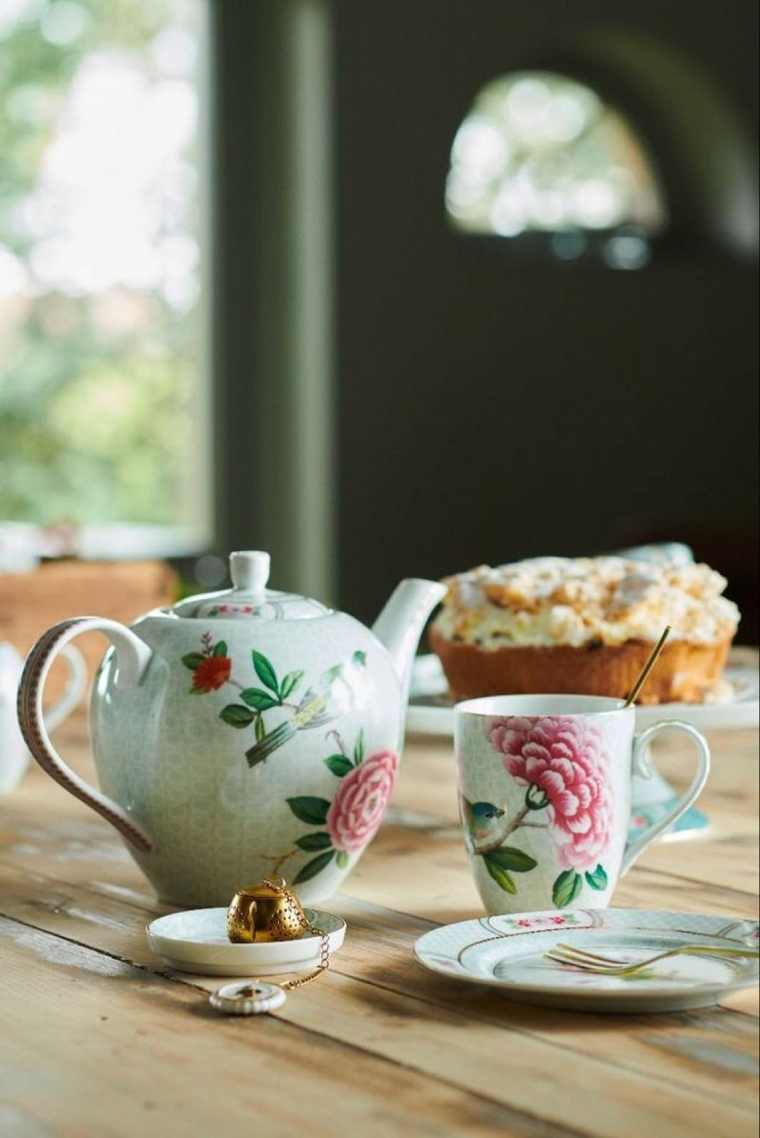 Pip studio Blushing birds small teapot