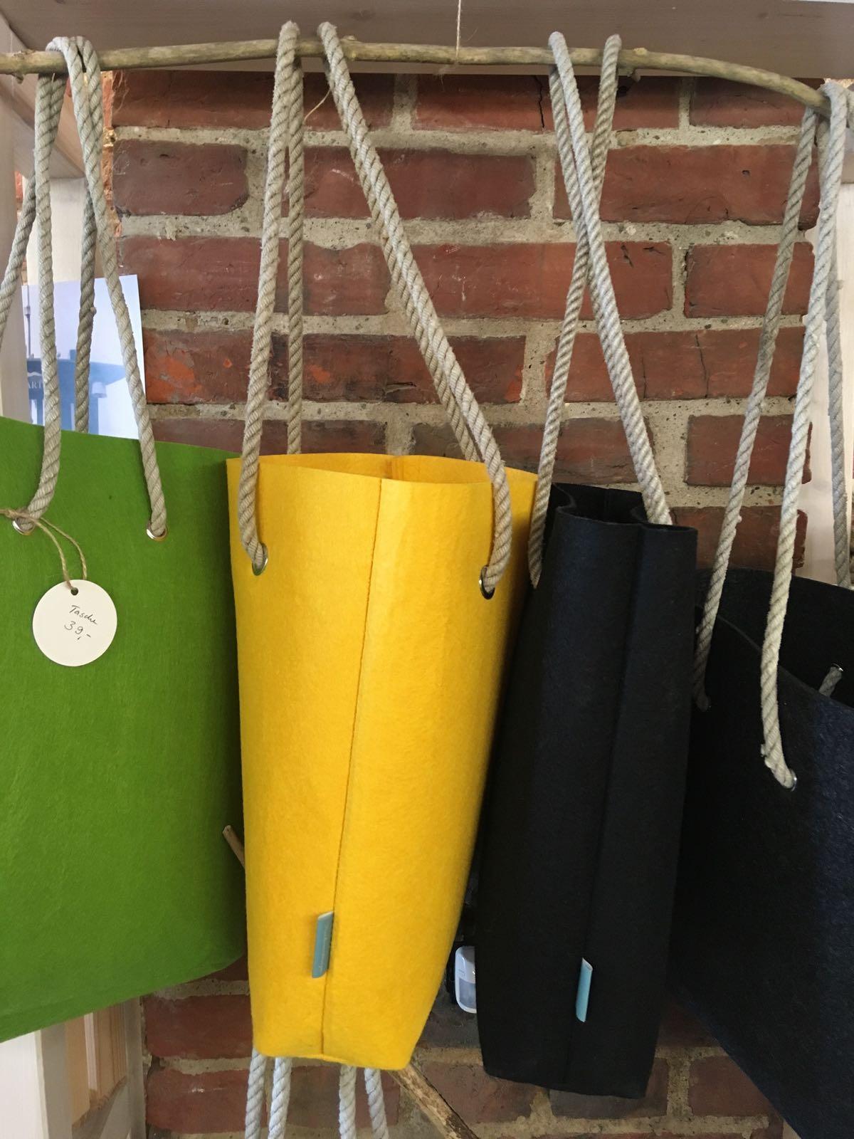 Fischereidesign - Filztasche mit Tampenhenkel