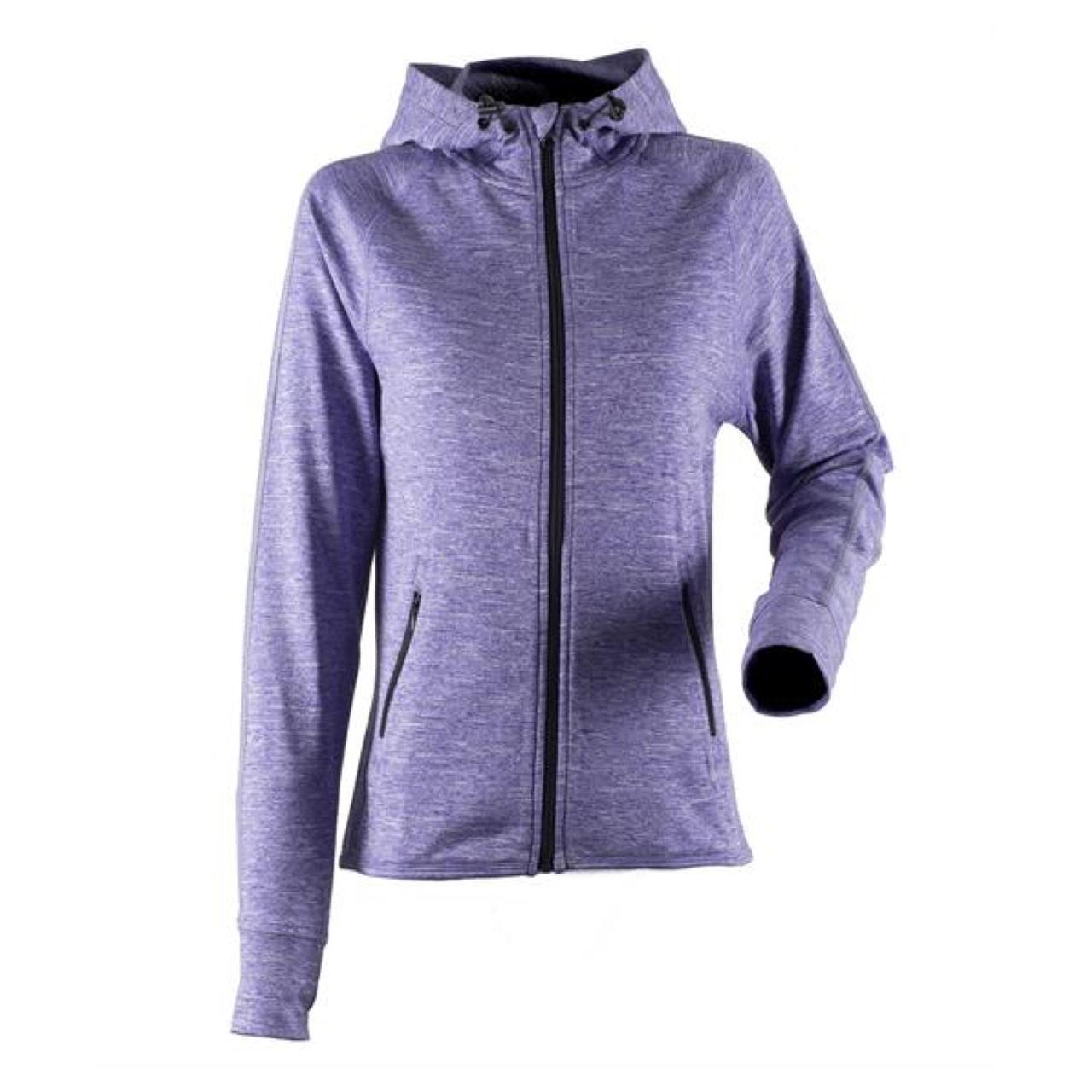 Orlane Purple Marl Running Hoodie