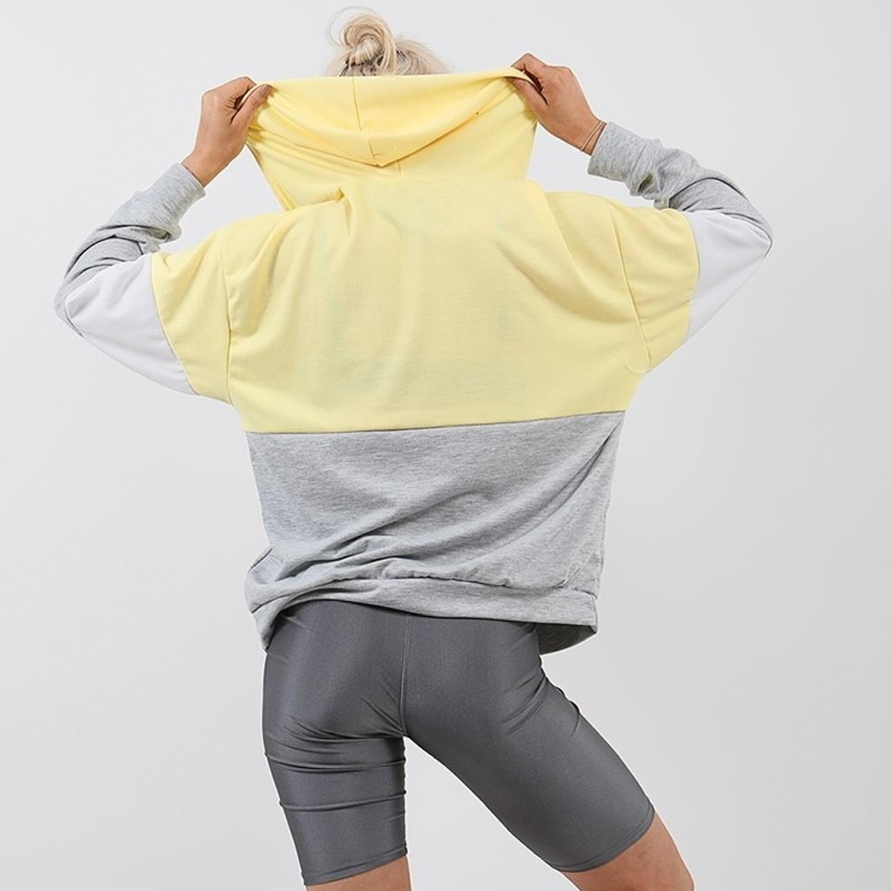 Lisa Yellow Block Zip Front Hoodie