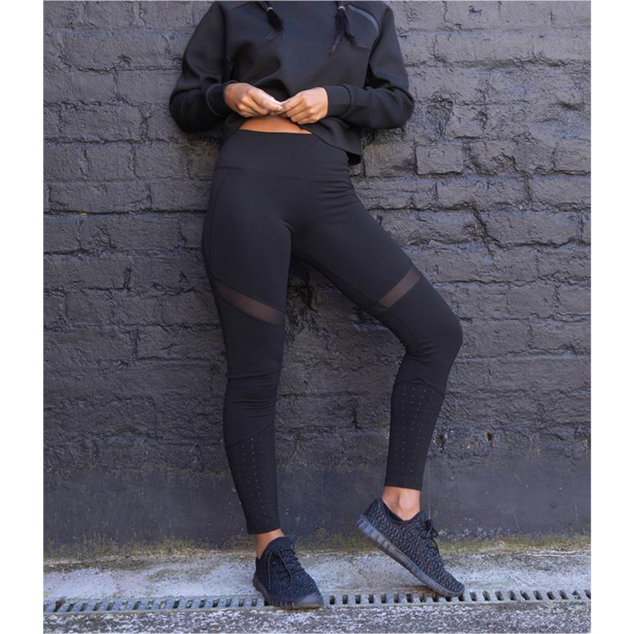Lucille Black Panelled Leggings
