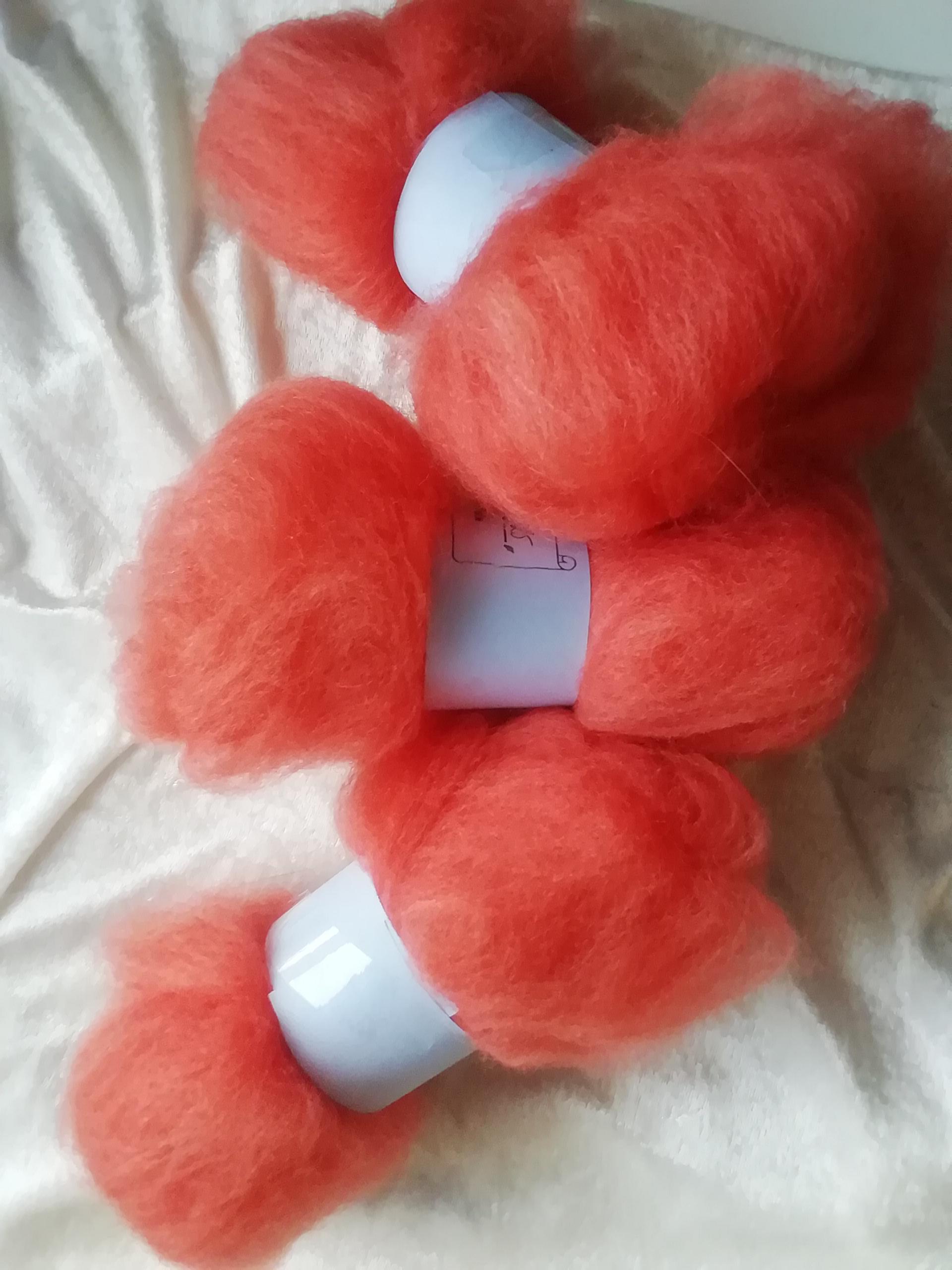 Corriedale Orange röd 25 gr