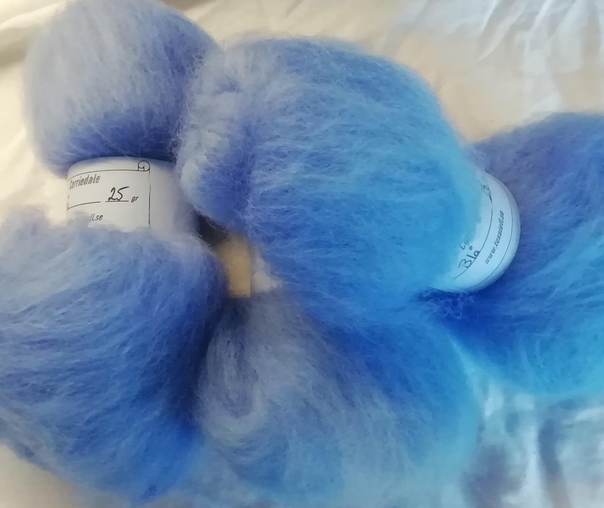 Corriedale Blå 25 gr