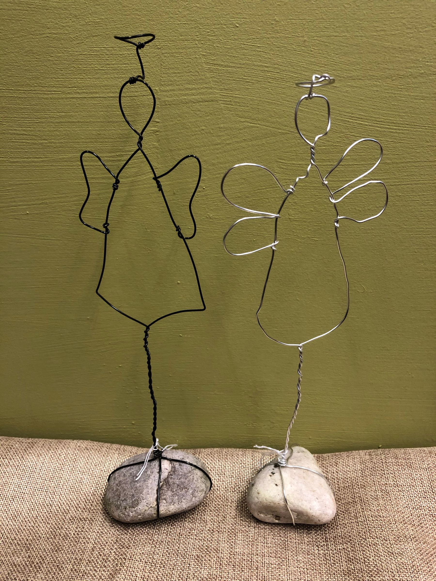Handmade wire angel