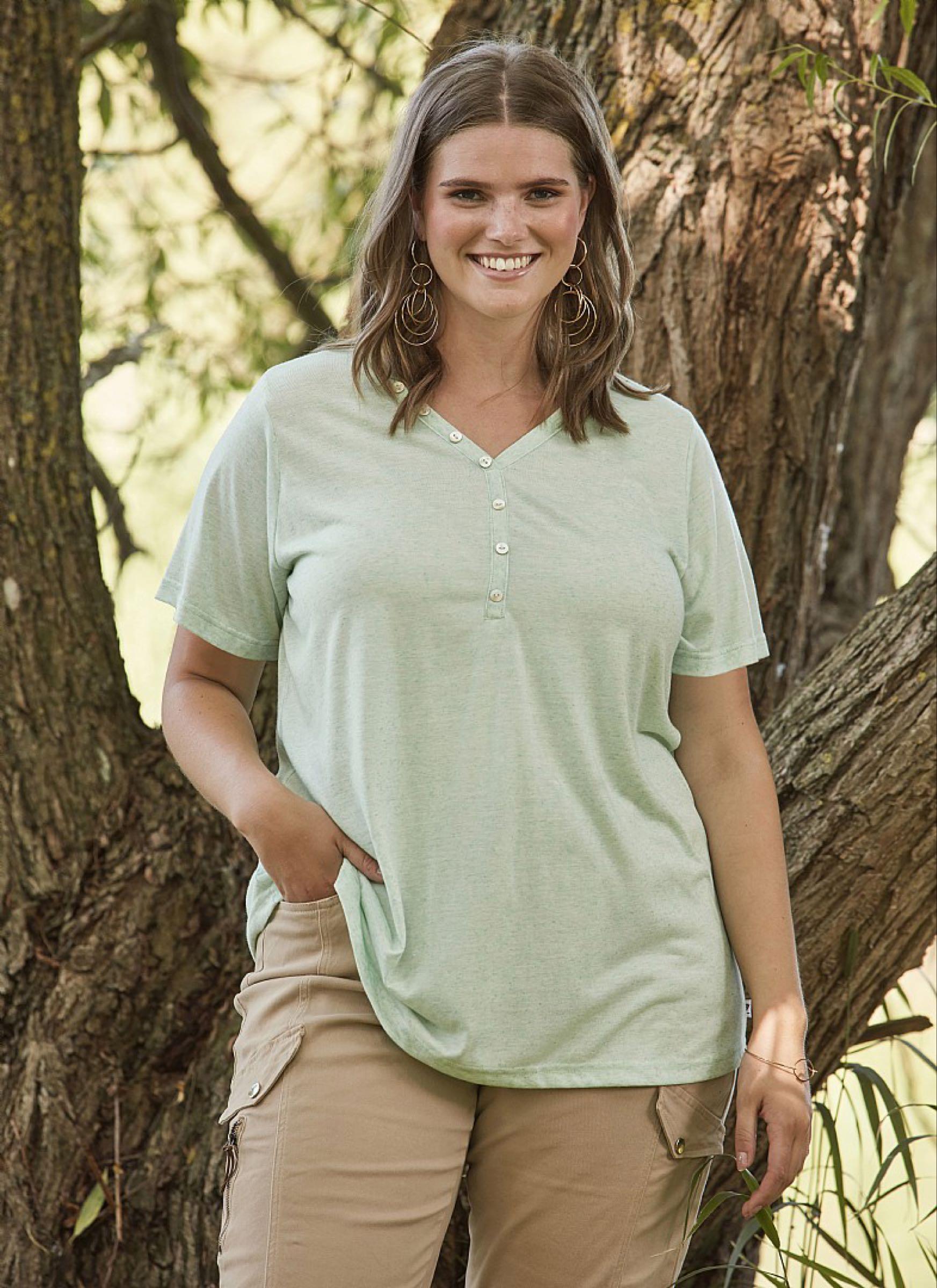 DALI t-shirt,  pistagegrön