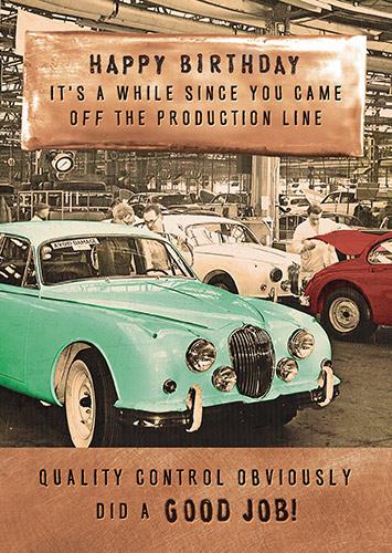 Rock Of Ages Jaguar Production Line Card
