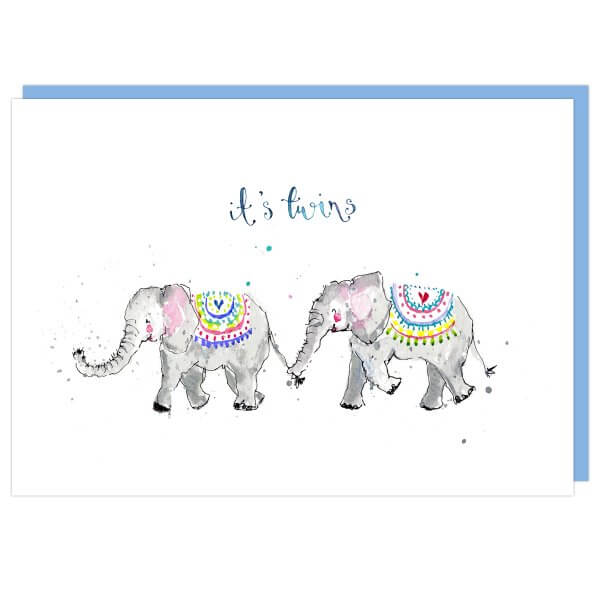 It's Twins Elephants Card