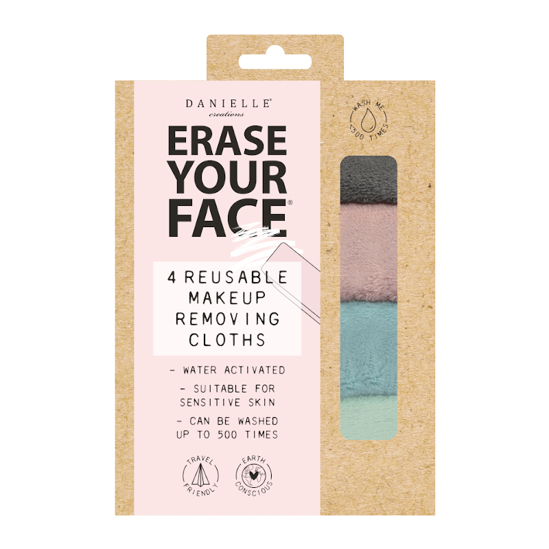 Erase Your Face Make Up Removal Cloth 4 Pack