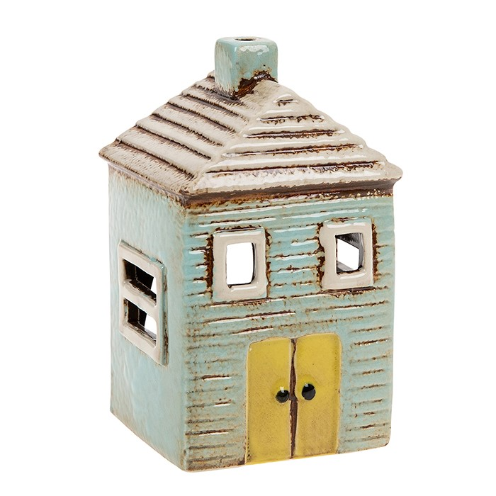Ceramic Small Beach House Tealight Holder