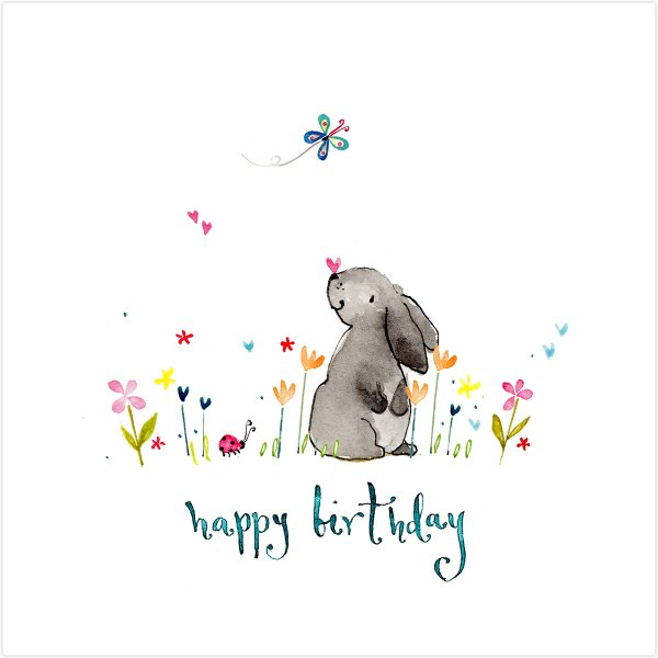 Happy Birthday Rabbit Card
