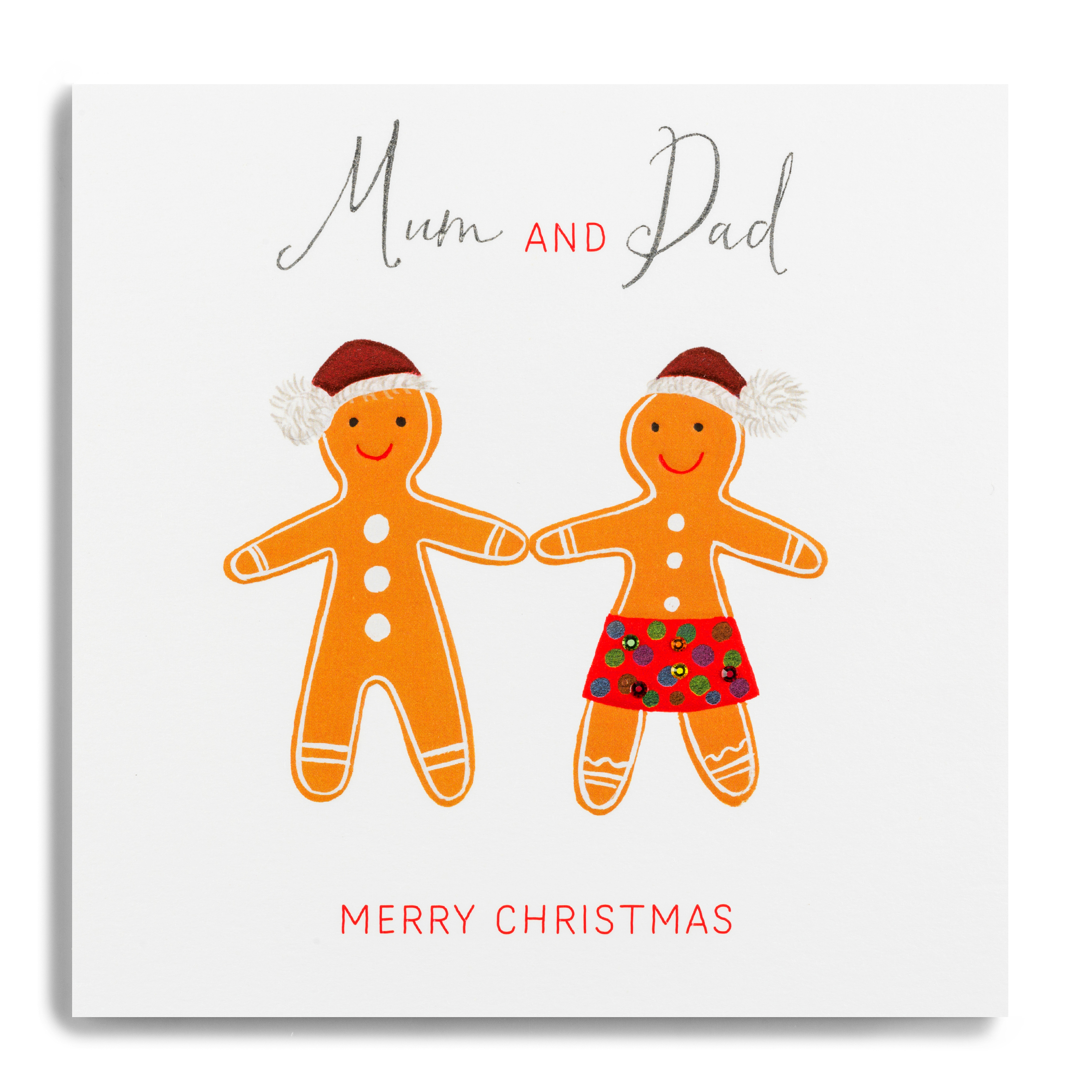 Forget Me Not Merry Christmas Mum & Dad Card