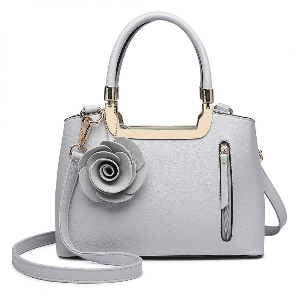 Structured Rose Handbag Grey