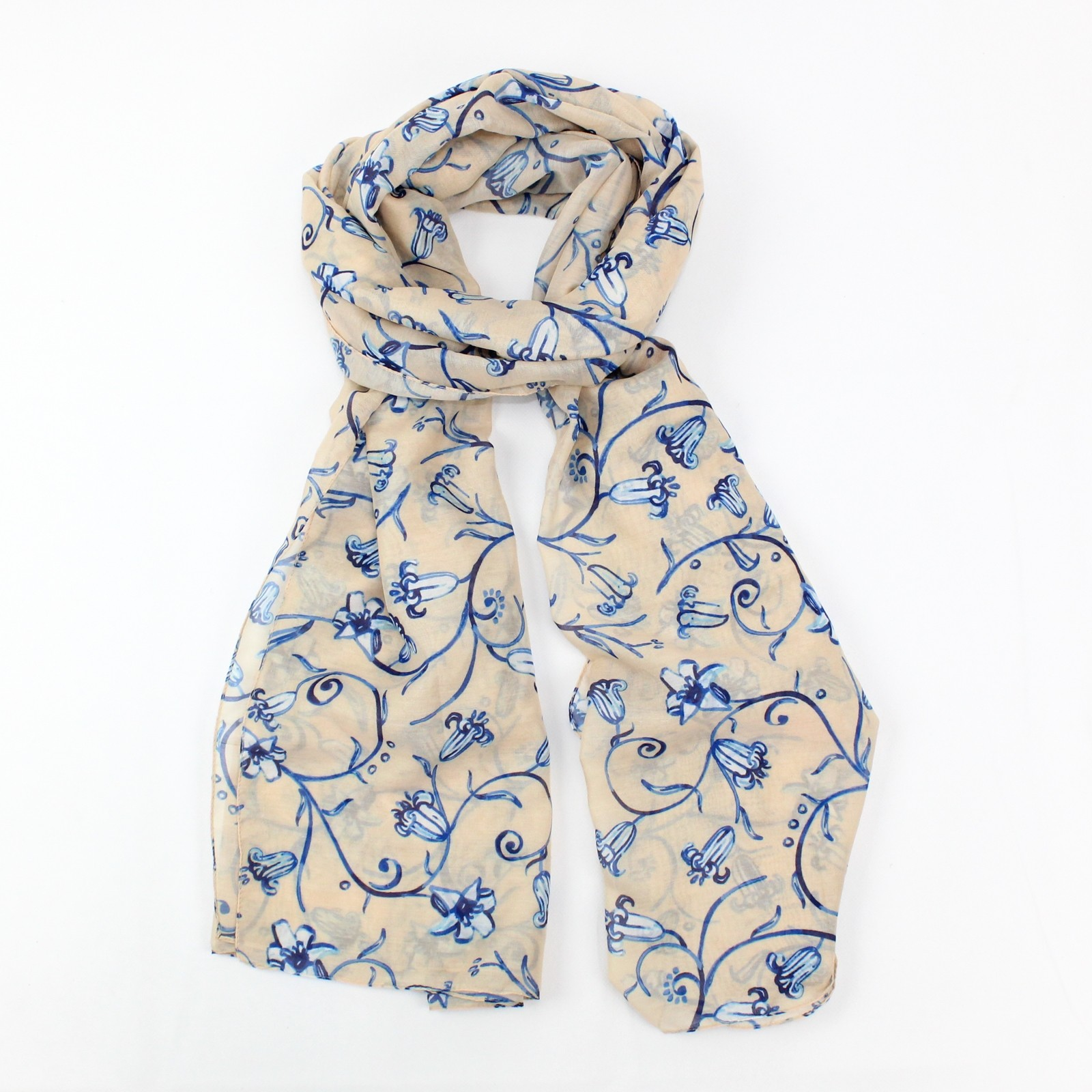 Bluebell Scarf Cream