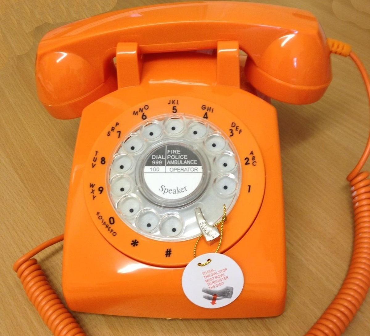 Steepletone 1970s Phone Orange