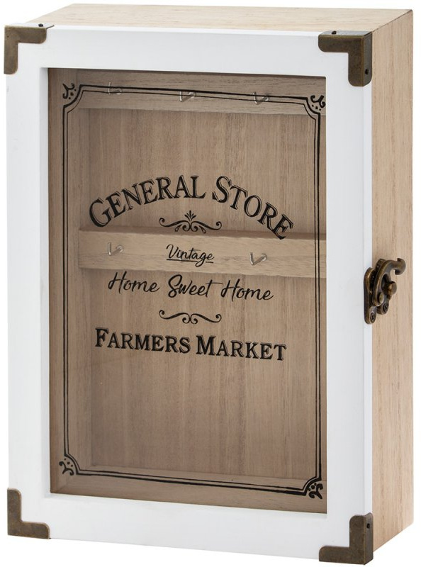 General Store Wooden Key Cupboard