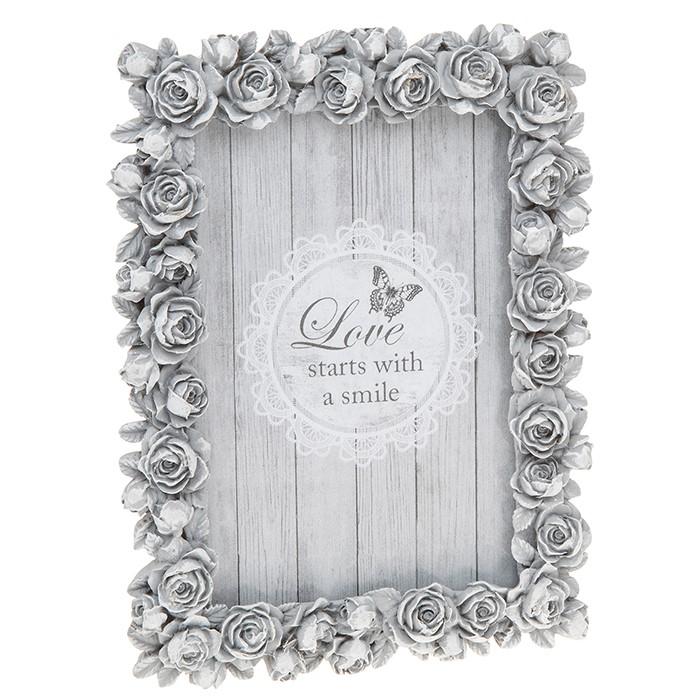 Grey Rose Photo Frame