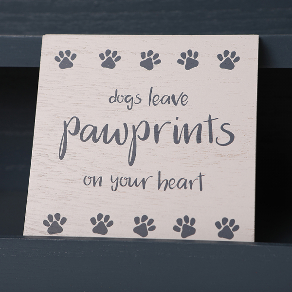 Wooden Coaster Dogs Leave Pawprints