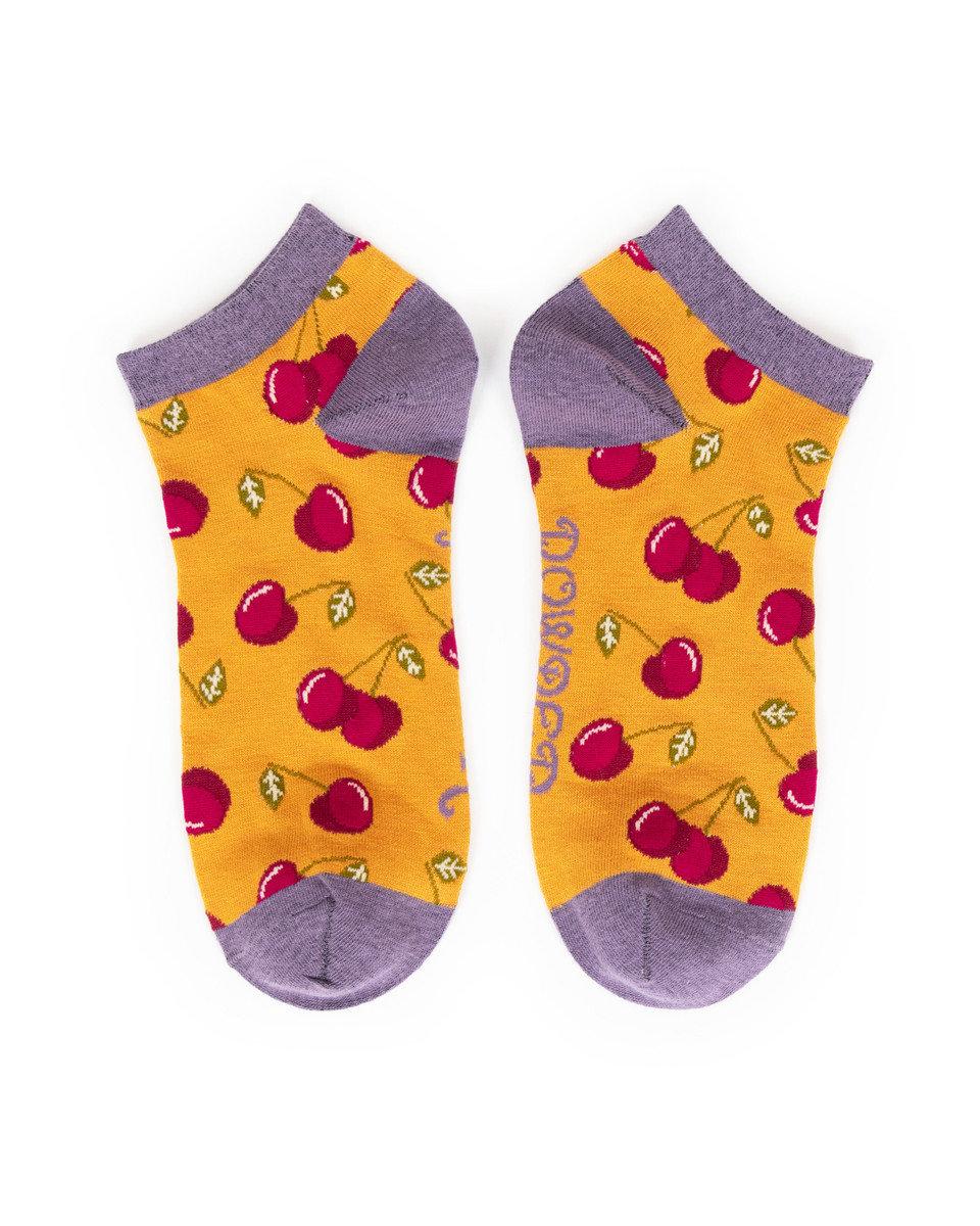 Powder Trainer Socks Cherries Mustard
