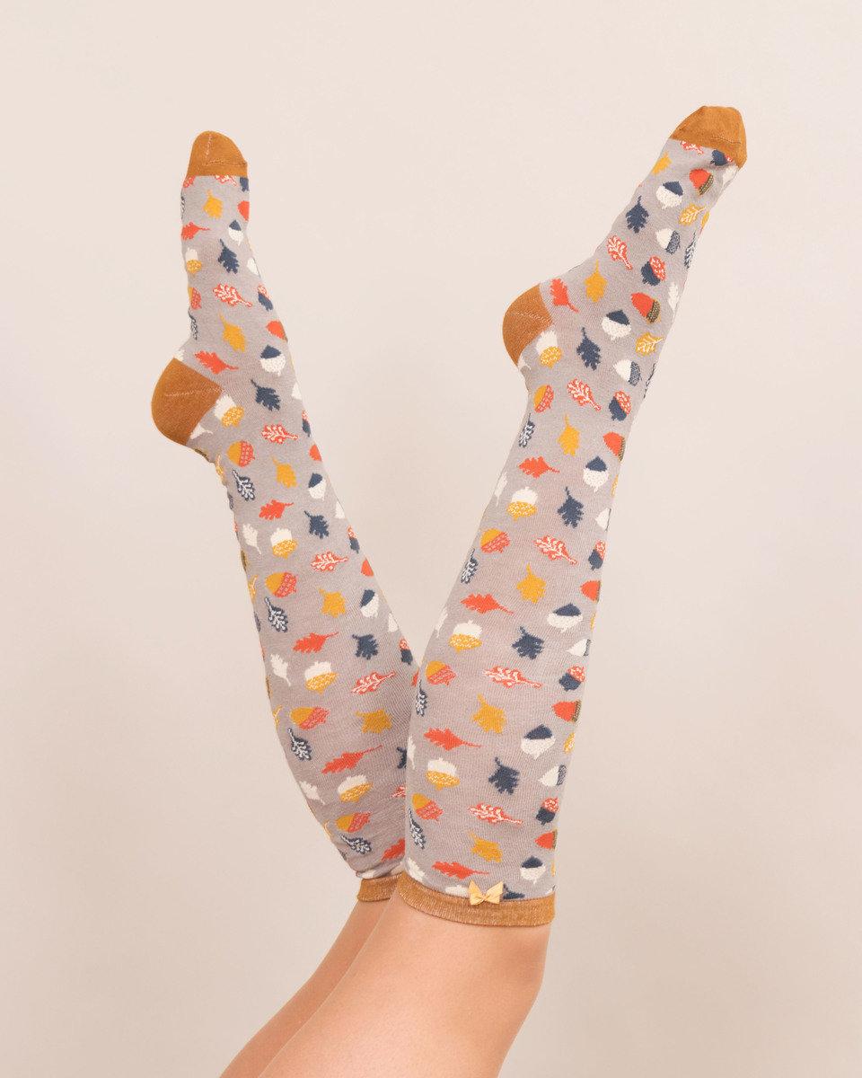Powder Knee High Socks Acorns