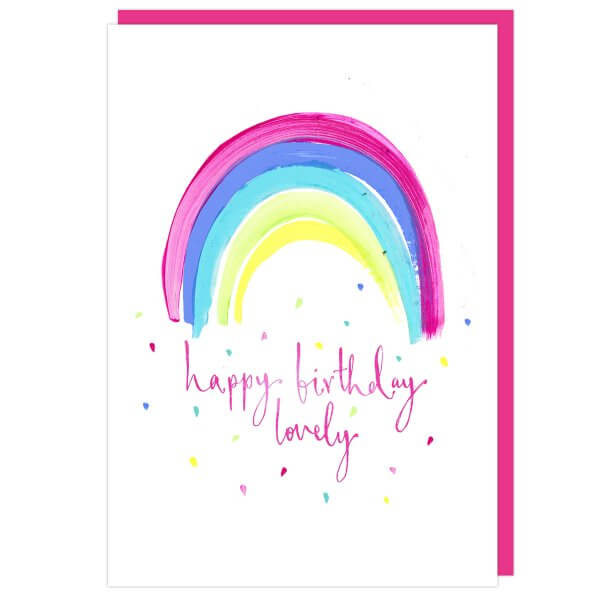 Happy Birthday Lovely Rainbow Card