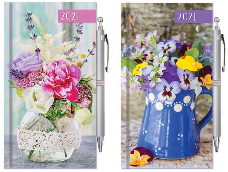 Floral Vase Diary 2021 Diary With Pen