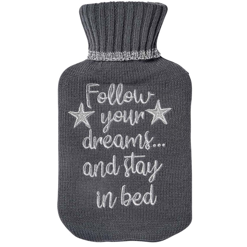 Mini Hot Water Bottle Follow Your Dreams