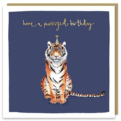 Have A Purrfect Birthday Tiger Card