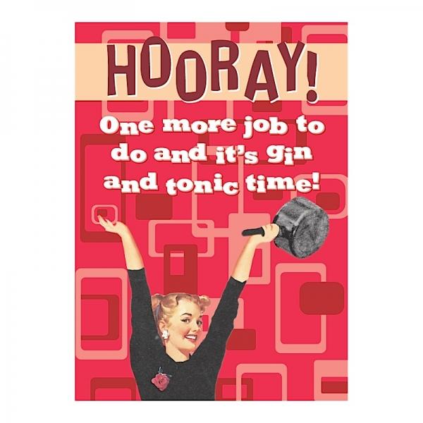 Vintage Magnet Hooray G&T HALF PRICE