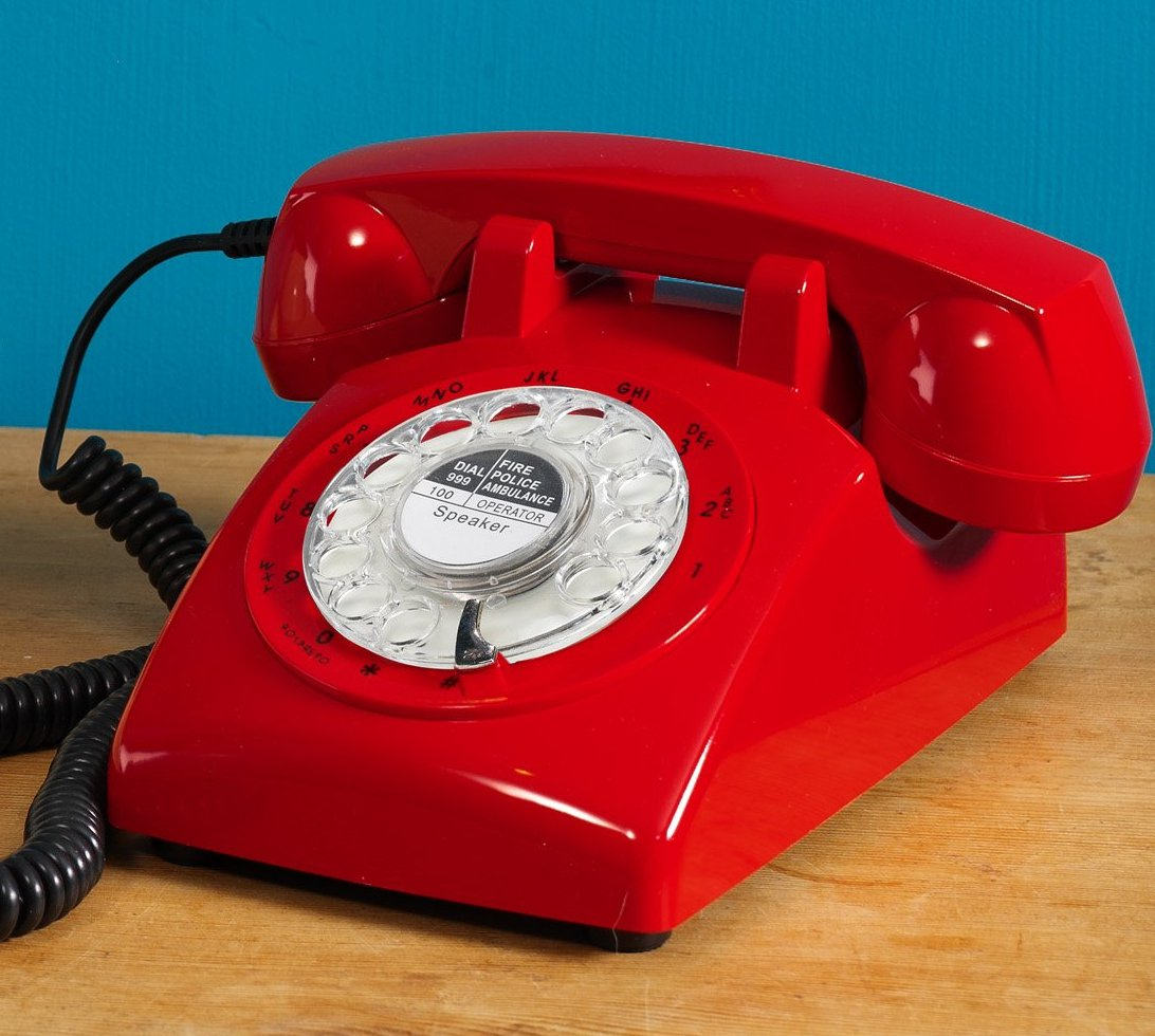 Steepletone 1970s Phone Red