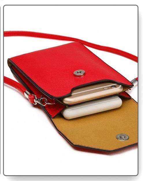 Slim Mobile Crossbody Bag Red