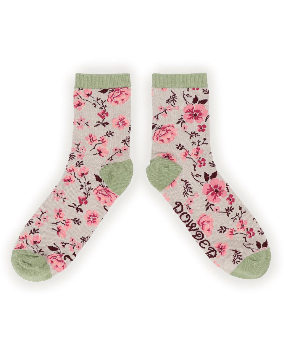Powder Ankle Socks Rosebud Grey