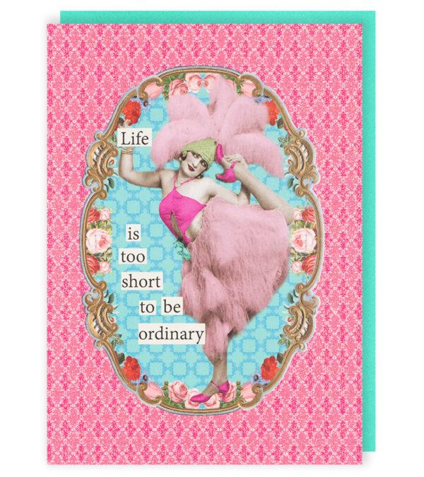 Darling Divas Life Too Short Card
