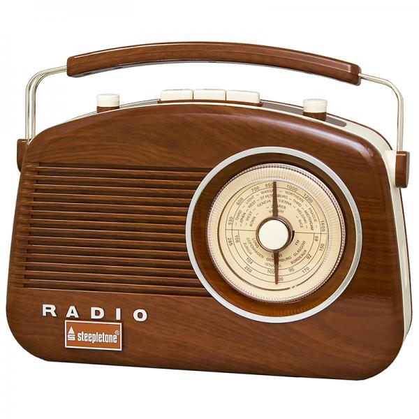 Steepletone Brighton Radio Woodgrain