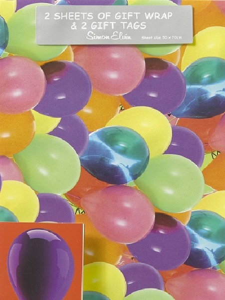 Gift Wrap Pack Balloons