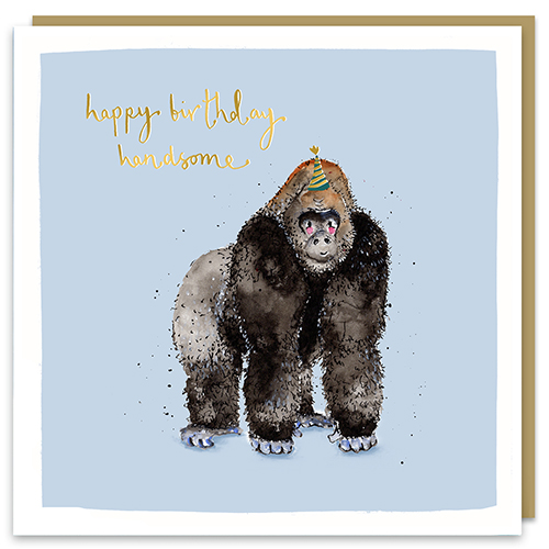 Happy Birthday Handsome Gorilla Card