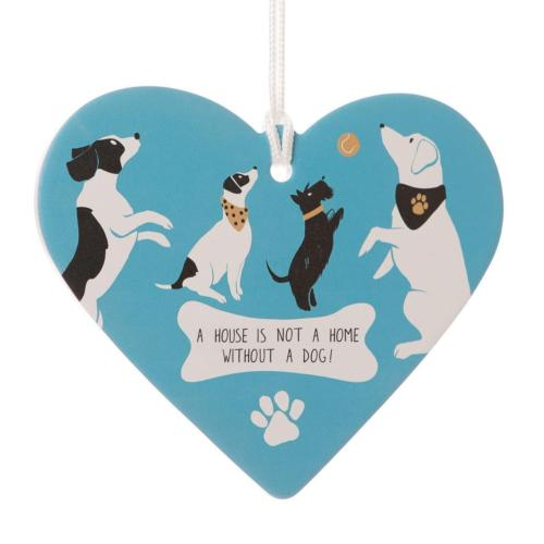 Dogs Ceramic Hanging Heart