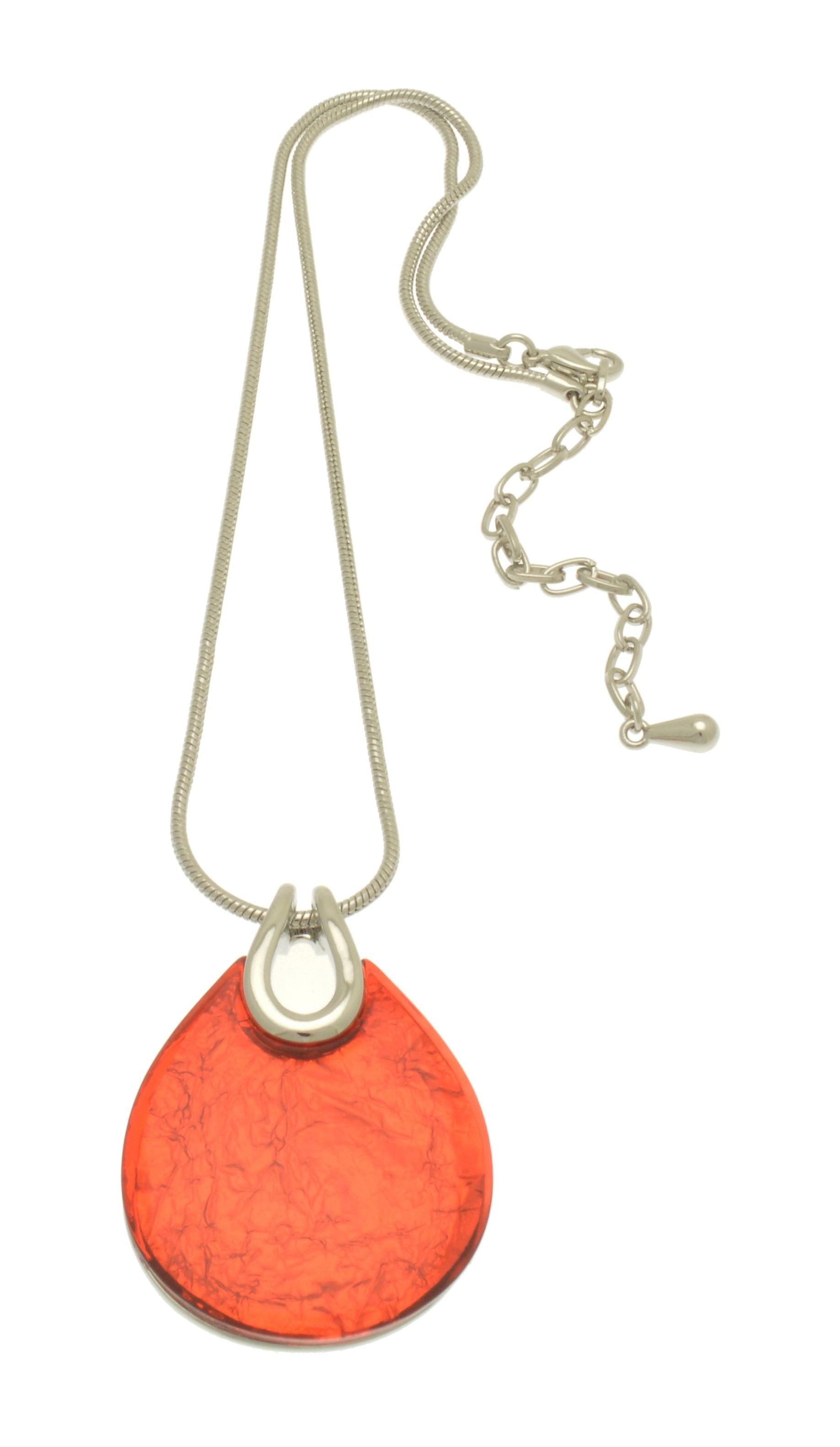 Orange Resin Punch Necklace