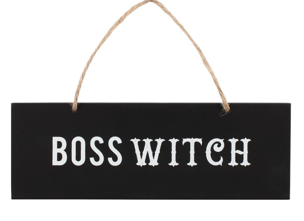 Black Magic Boss Witch sign