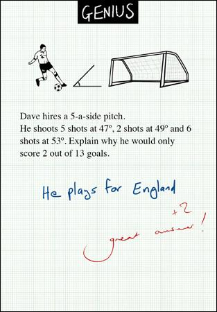 Genius Plays For England Card