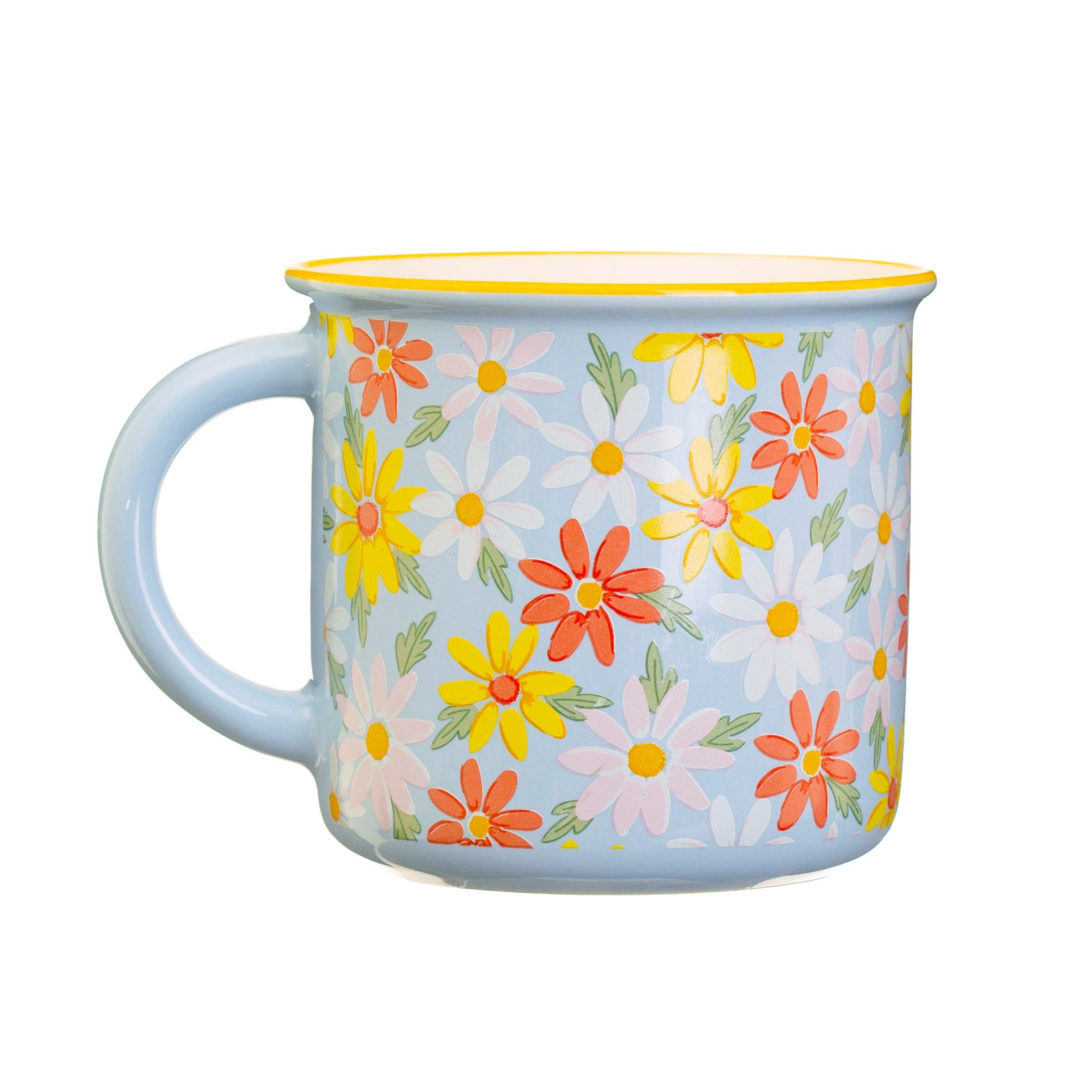 Blue Daisy Mug