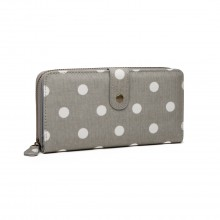 Polka Dot Purse Grey