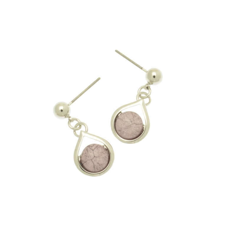 Lilac Droplet Earrings