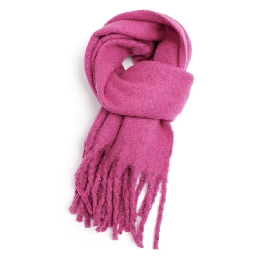 Thick Speckled Scarf Cerise Pink