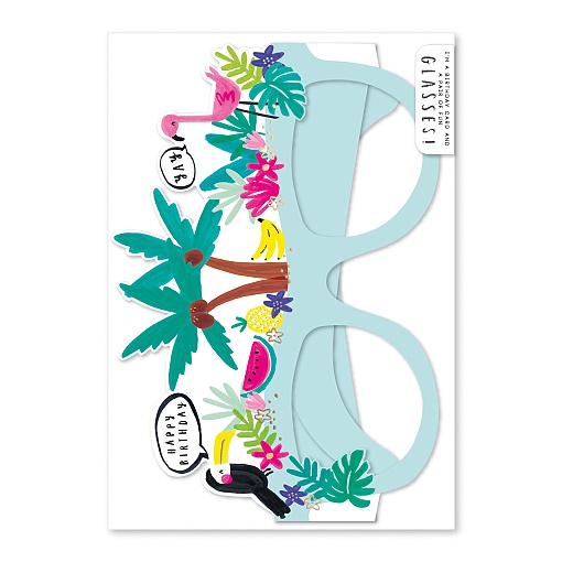 Glasses Tropical Vibes Card