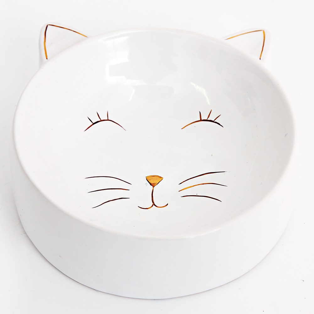 Ceramic Cat Face Food Bowl