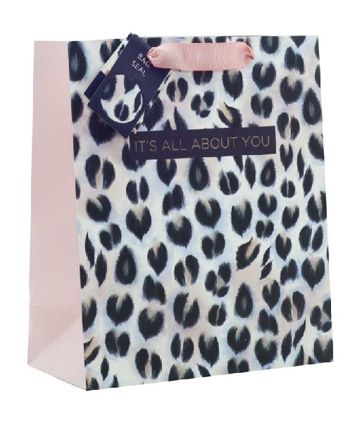 Gift Bag Medium It's All About You Animal Print