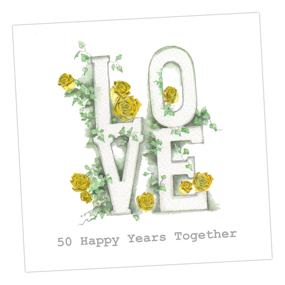 50 Happy Years Together Anniversary Card